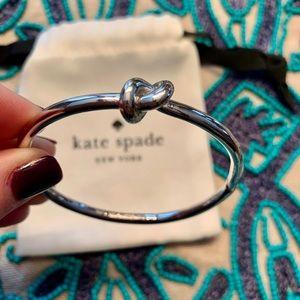 Kate Spade sailor's knot bracelet with dust bag